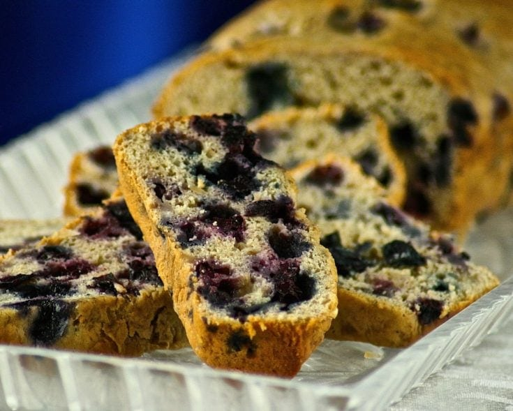 Blueberry Banana Bread with Coconut and Pecans