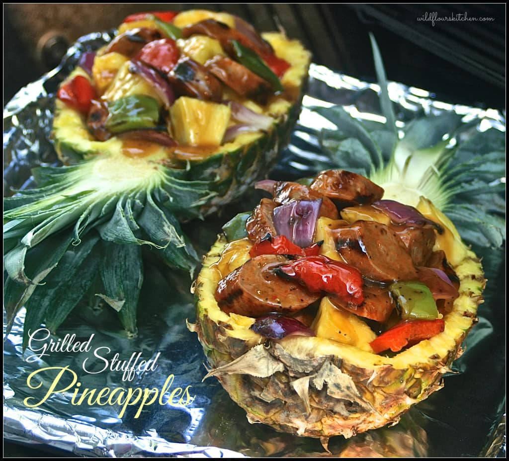 grilled stuffed pineapples