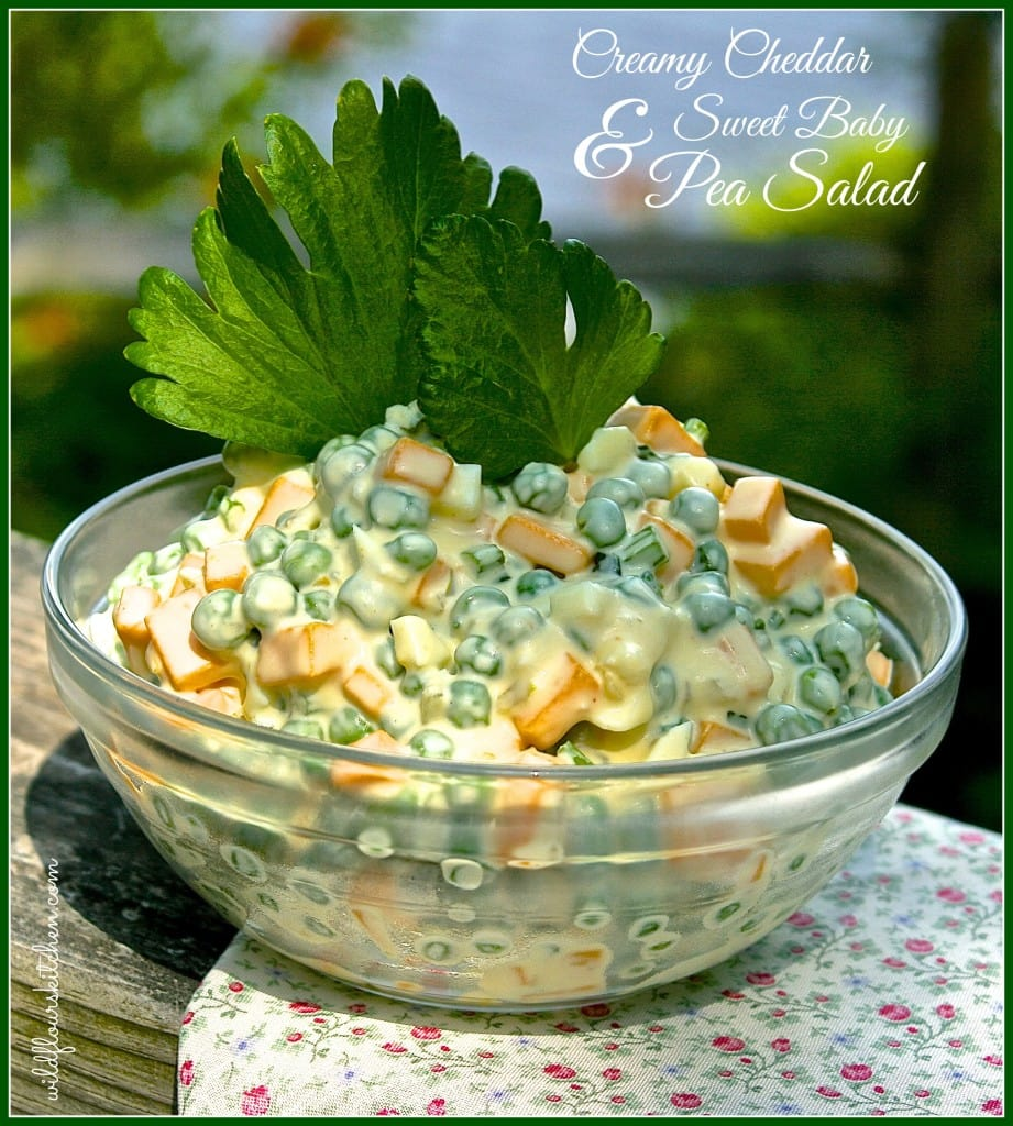Creamy Cheddar & Sweet Baby Pea Salad