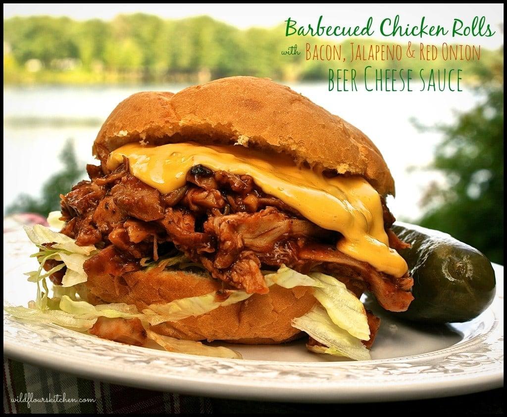 bbqed chicken rolls wcheese sc