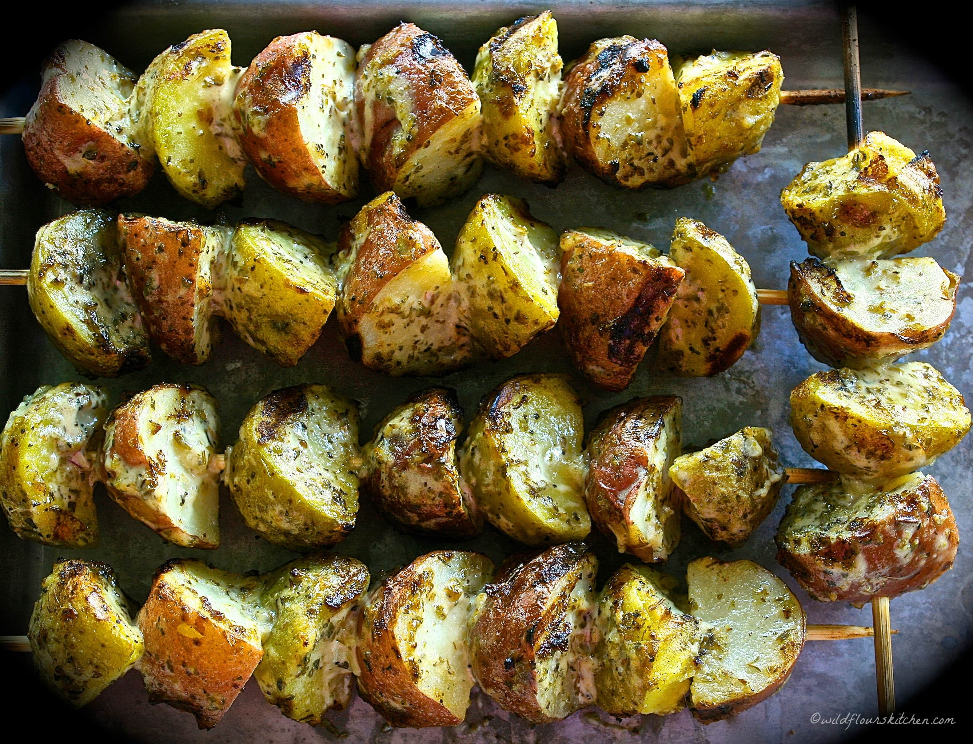 Grilled Baby Potatoes with Italian Herbs