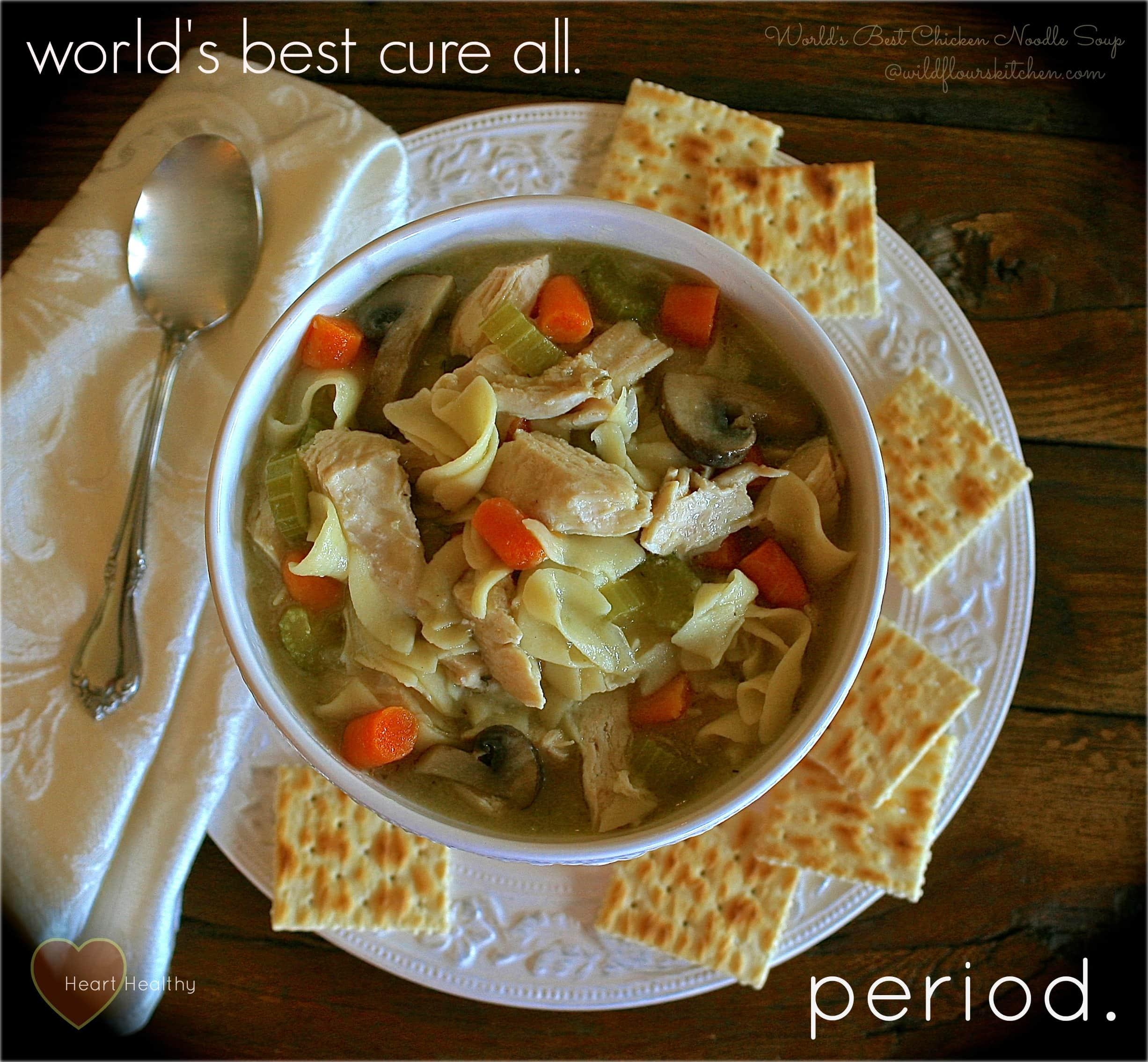 World's Best Chicken Noodle Soup - Wildflour's Cottage Kitchen