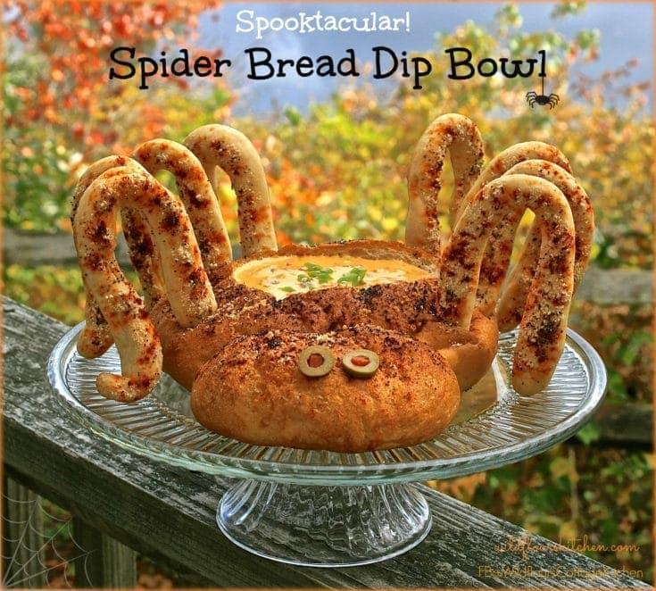 Spooktacular Halloween Spider Bread Dip Bowl
