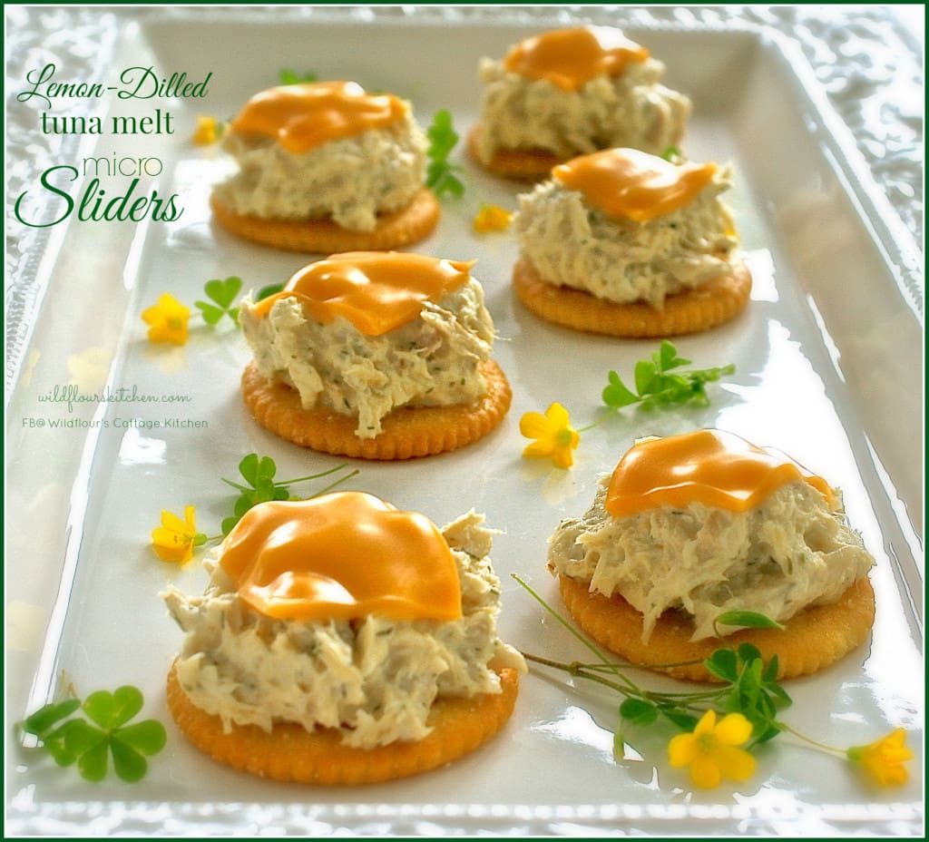 tuna melt micro sliders
