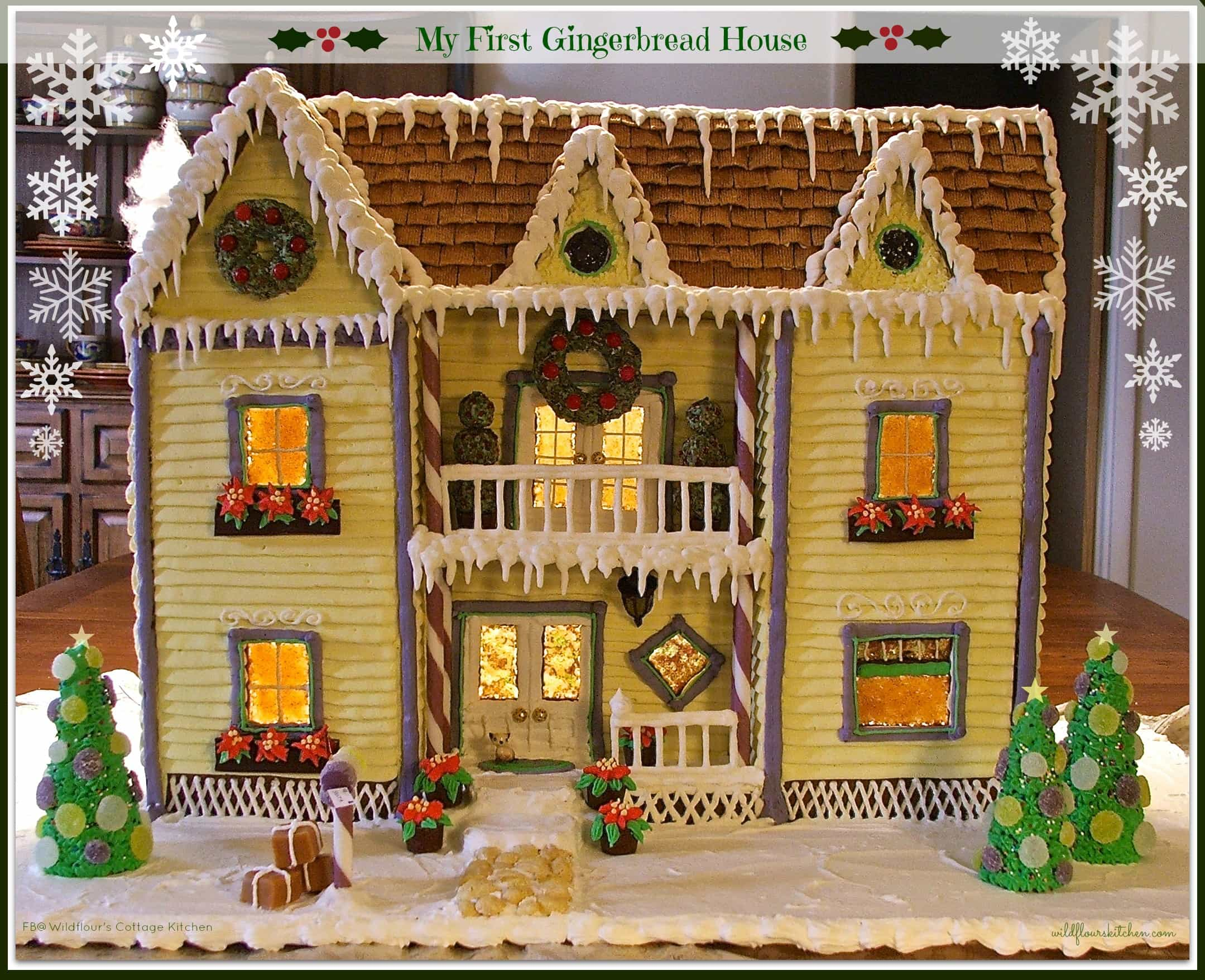 My first gingerbread house recipes tips and instructions for How to make best gingerbread house
