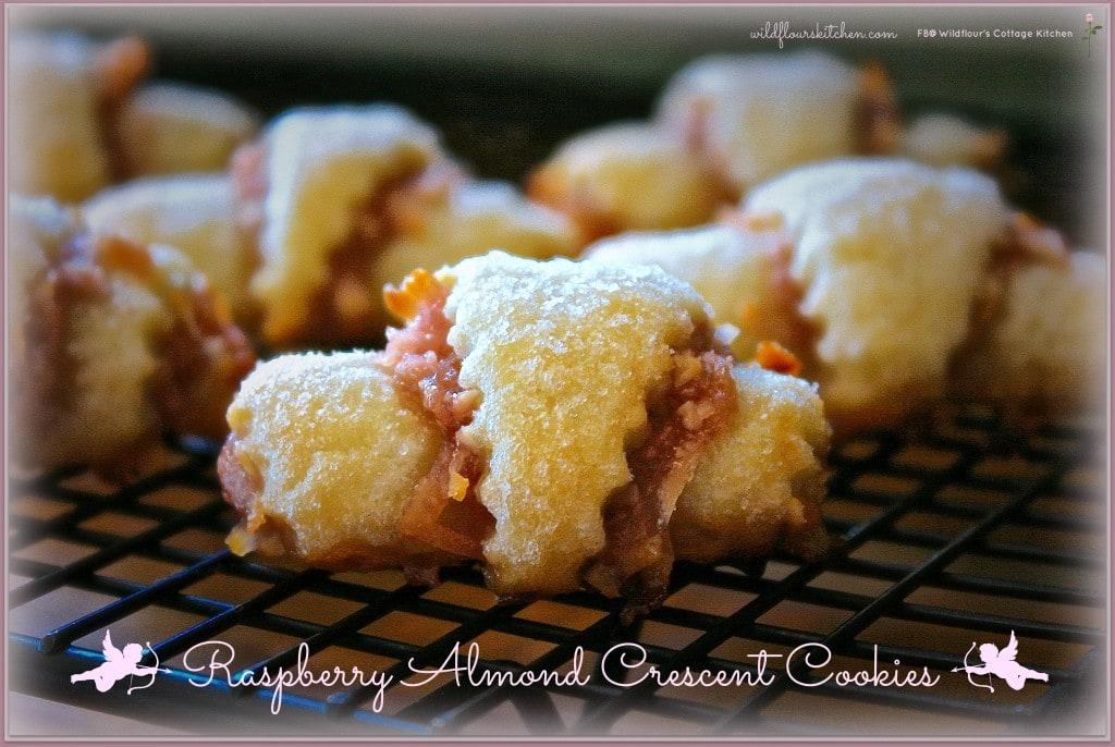 raspberry crescent cookies
