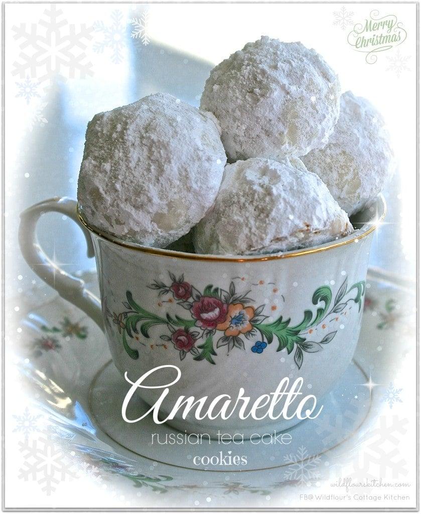 Amaretto Russian Tea Cake Cookies - Wildflour's Cottage Kitchen