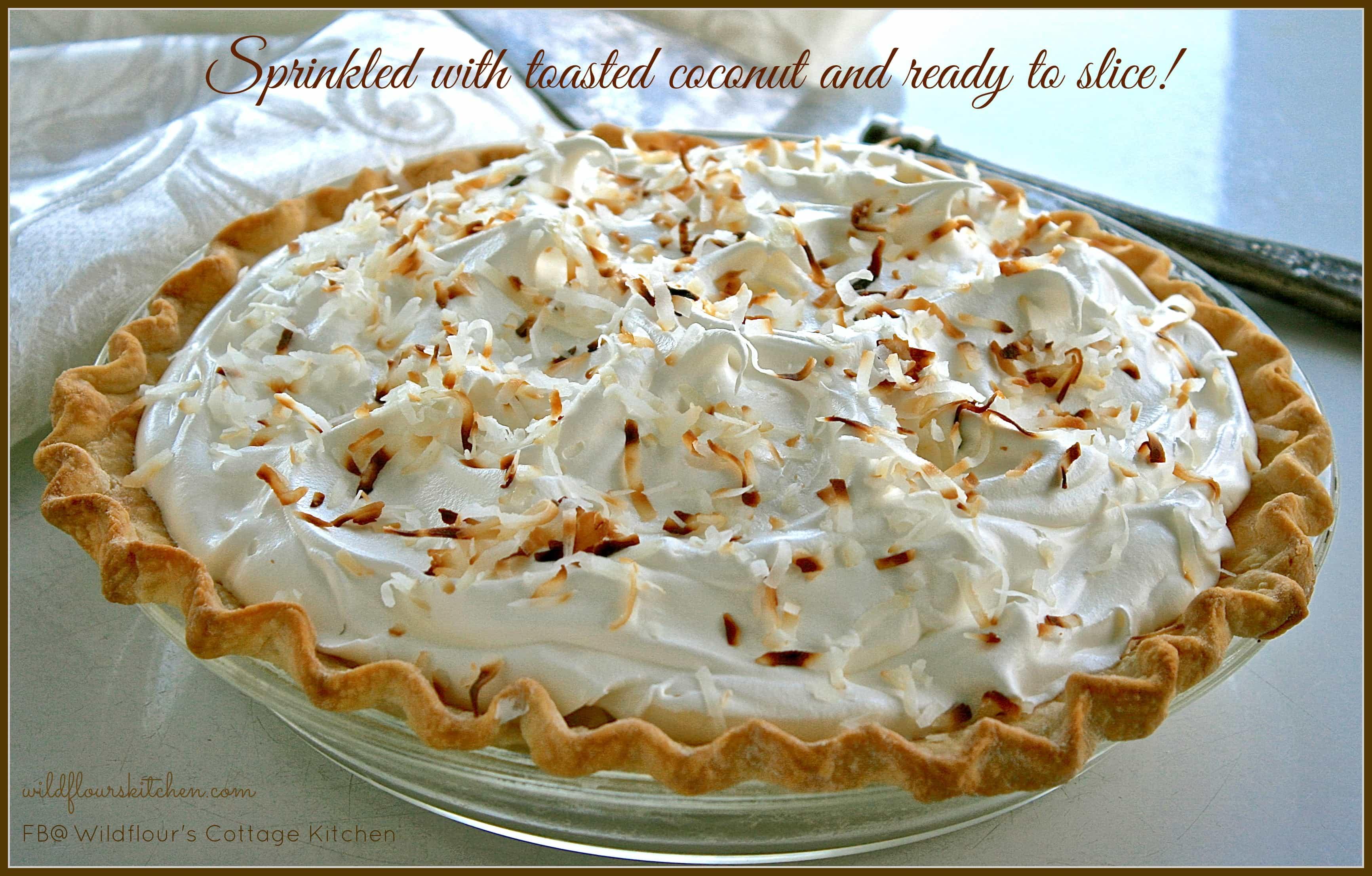 Old-Fashioned Coconut Cream Pie - Wildflour's Cottage Kitchen