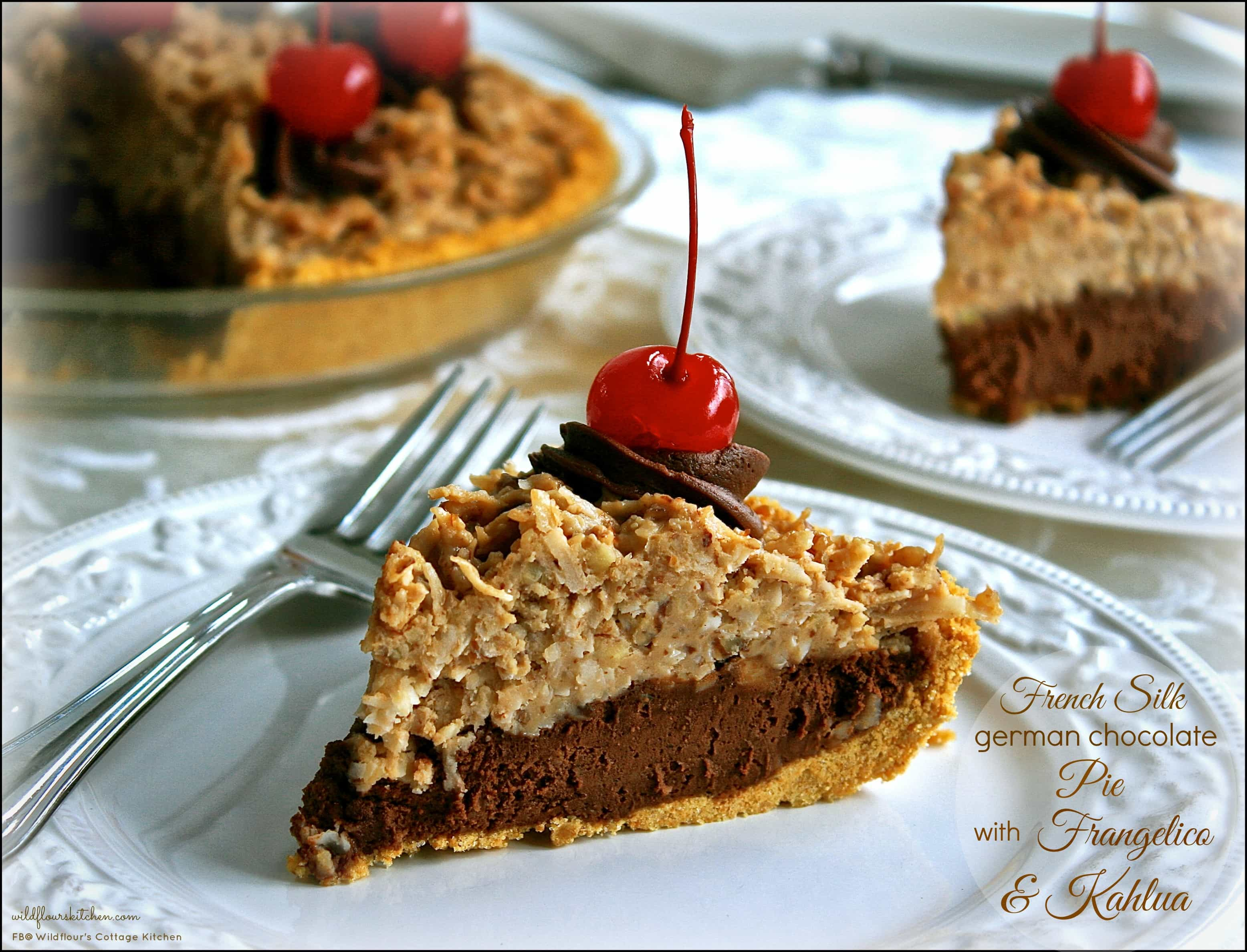 French Silk German Chocolate Pie with Frangelico & Kahlua ...