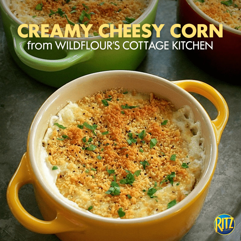 my cheesy corn pic madeover by Ritz