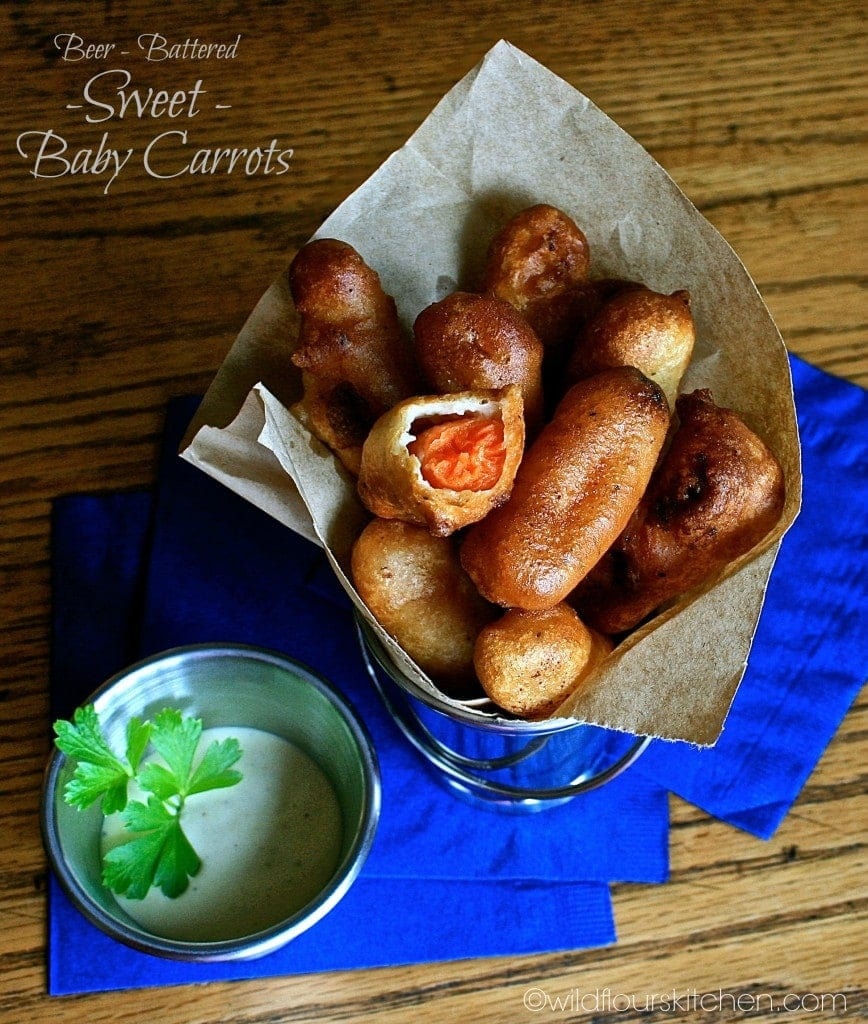 beer battered baby carrots