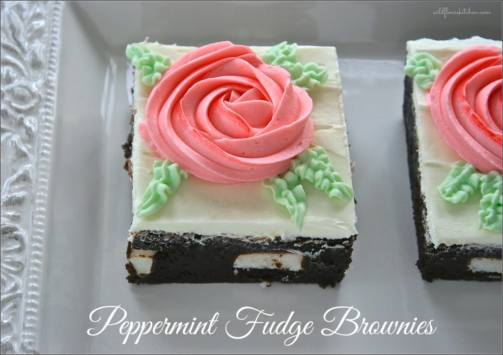 peppermint fudge brownies