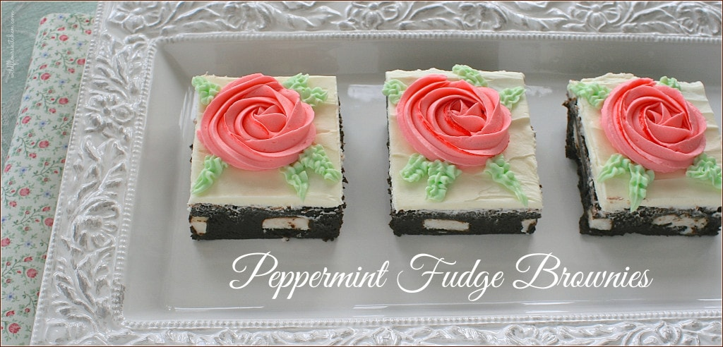 peppermint fudge brownies 2