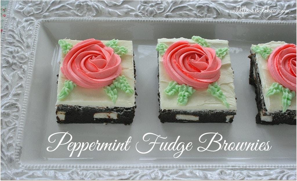 peppermint fudge brownies 3