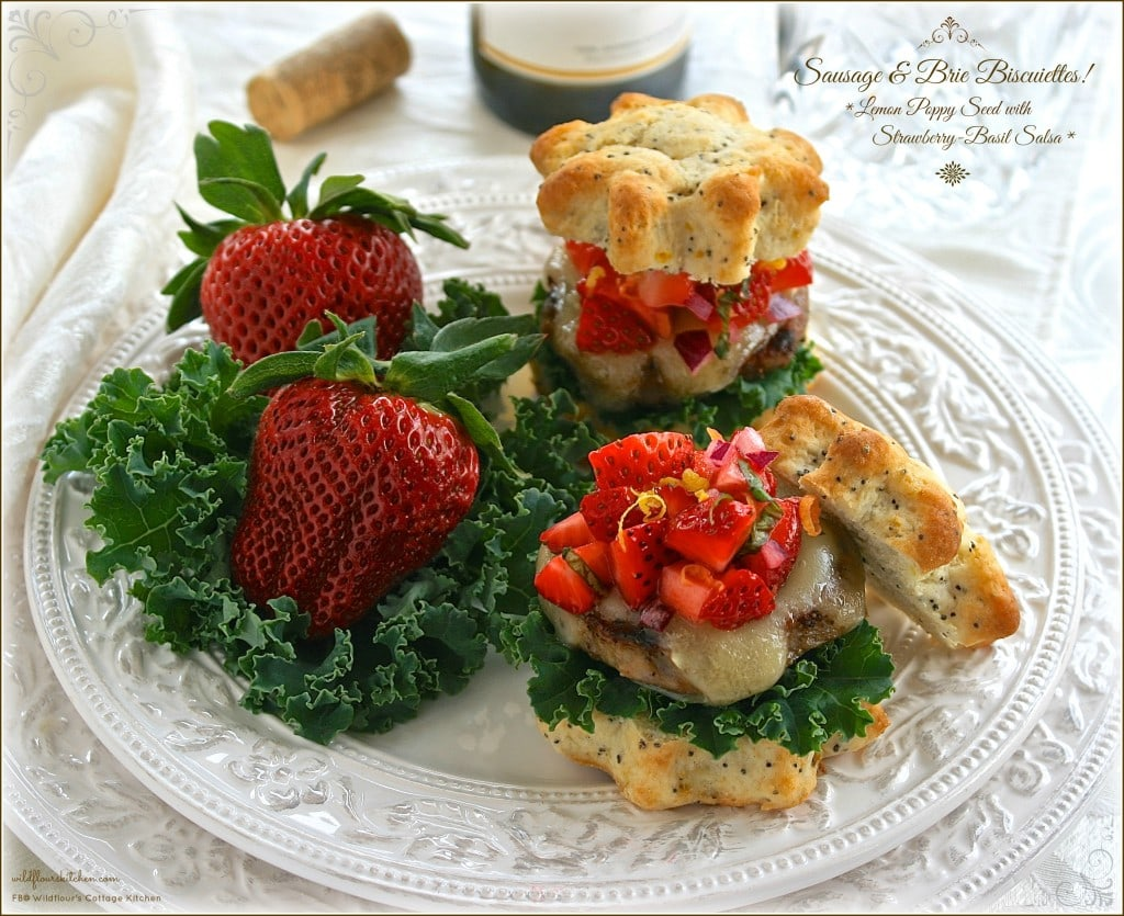 sausage and brie biscuiettes