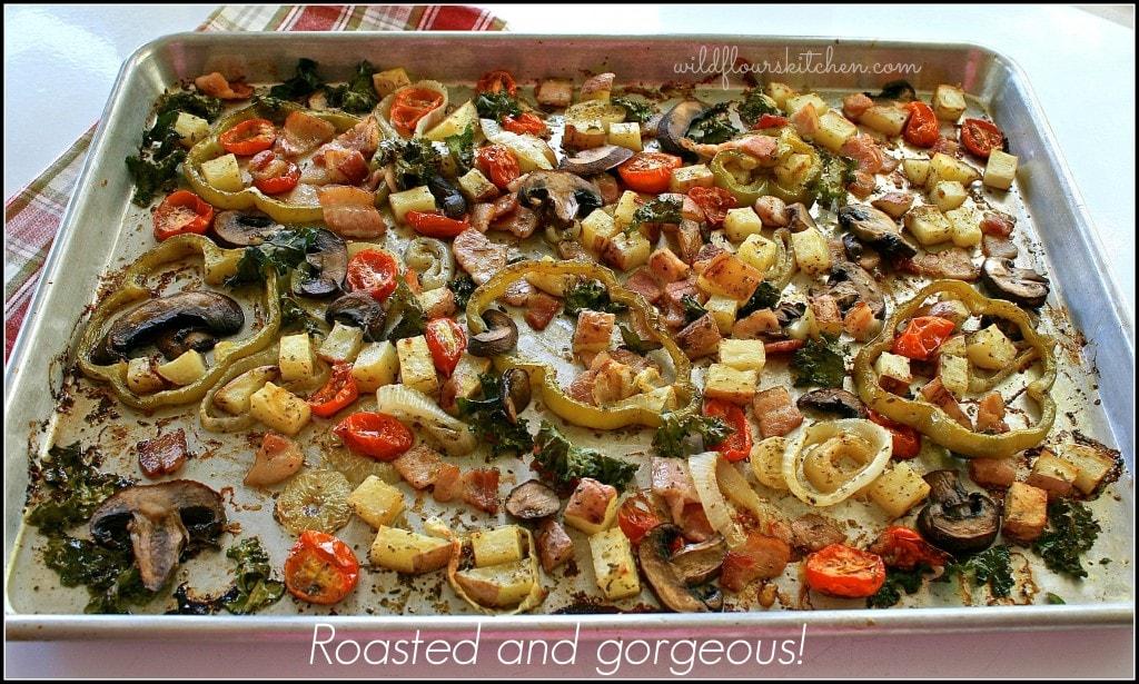 grilled pizza veggies