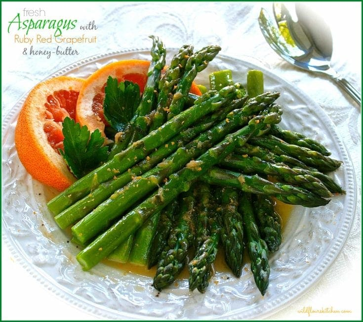 Fresh Asparagus with Ruby Red Grapefruit & Honey-Butter