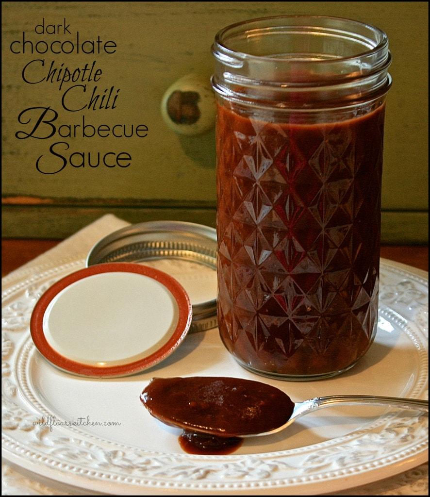 drk choc bbq sauce jar