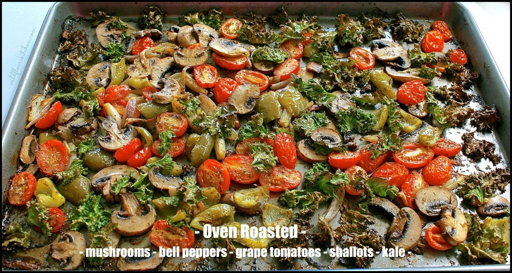 oven roasted pizza veggies