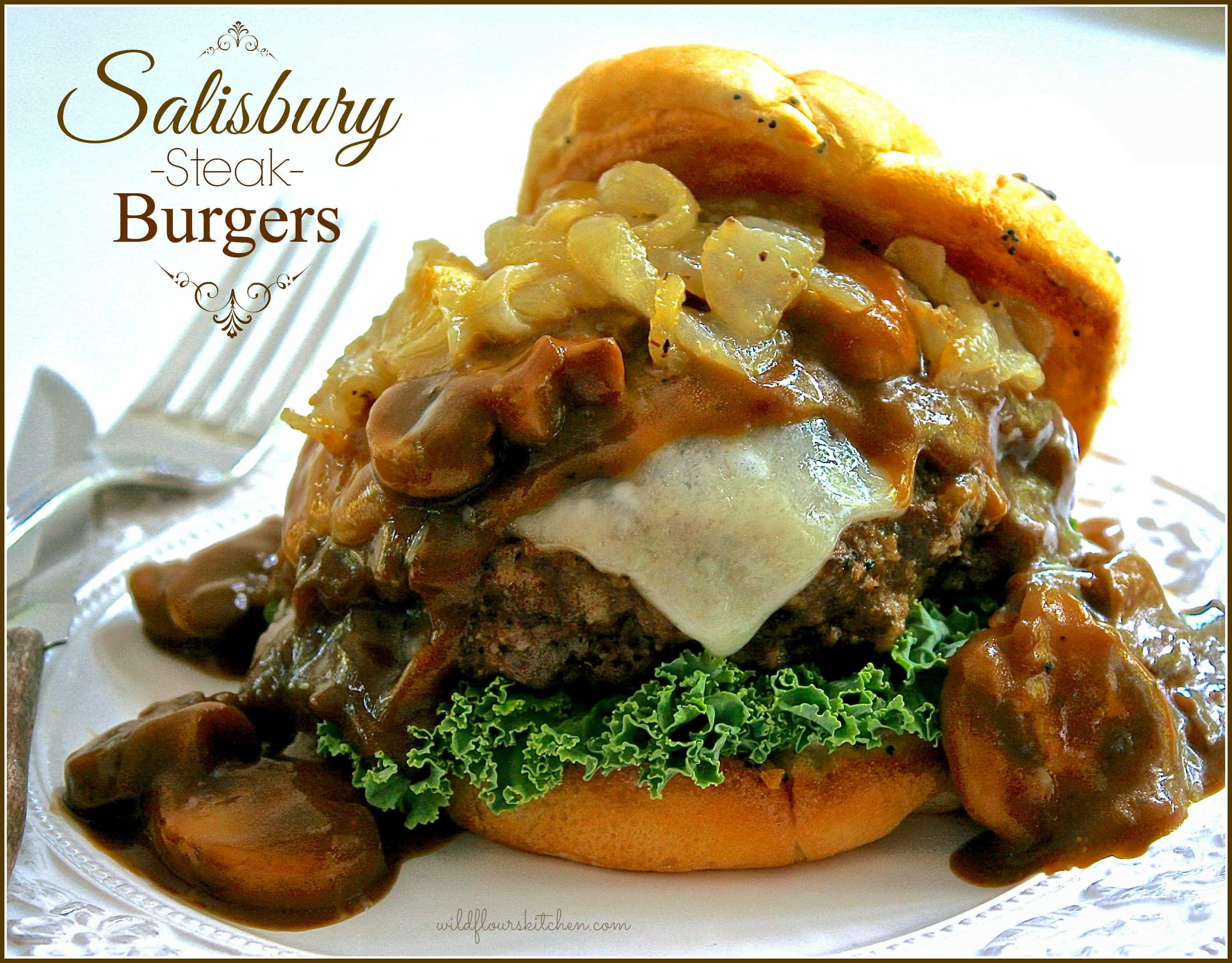 Restaurant Style Salisbury Steak Burgers With Swiss Cheese