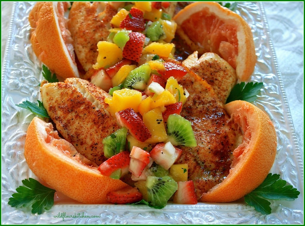 tilapia w fruit salsa 2