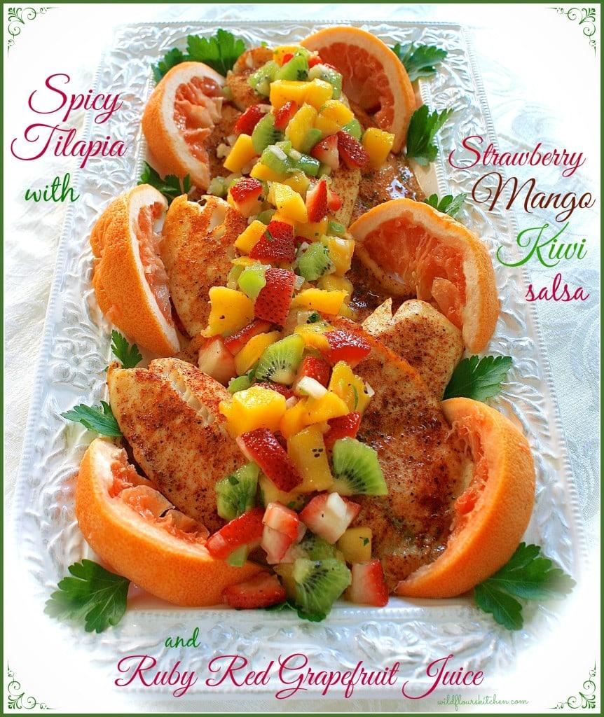 tilapia w fruit salsa