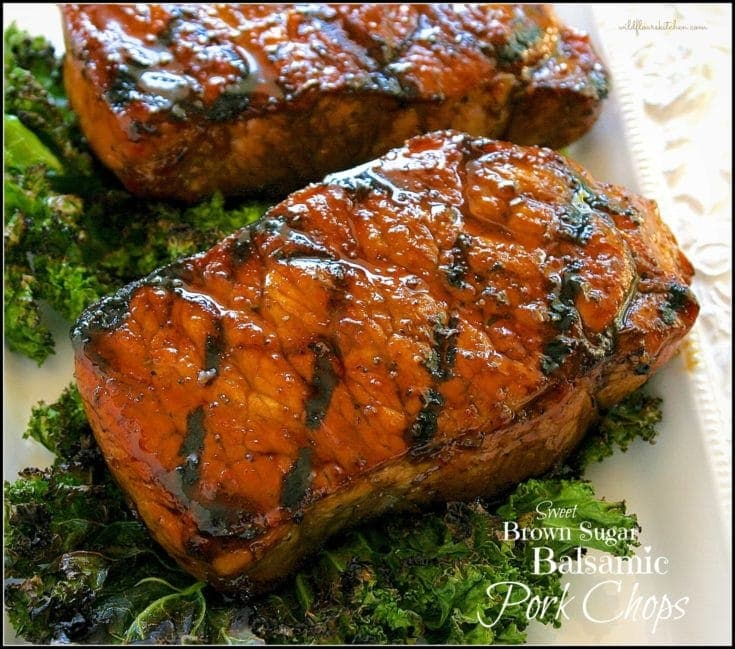 Caramelized Balsamic & Brown Sugar-Glazed Pork Loin Chops