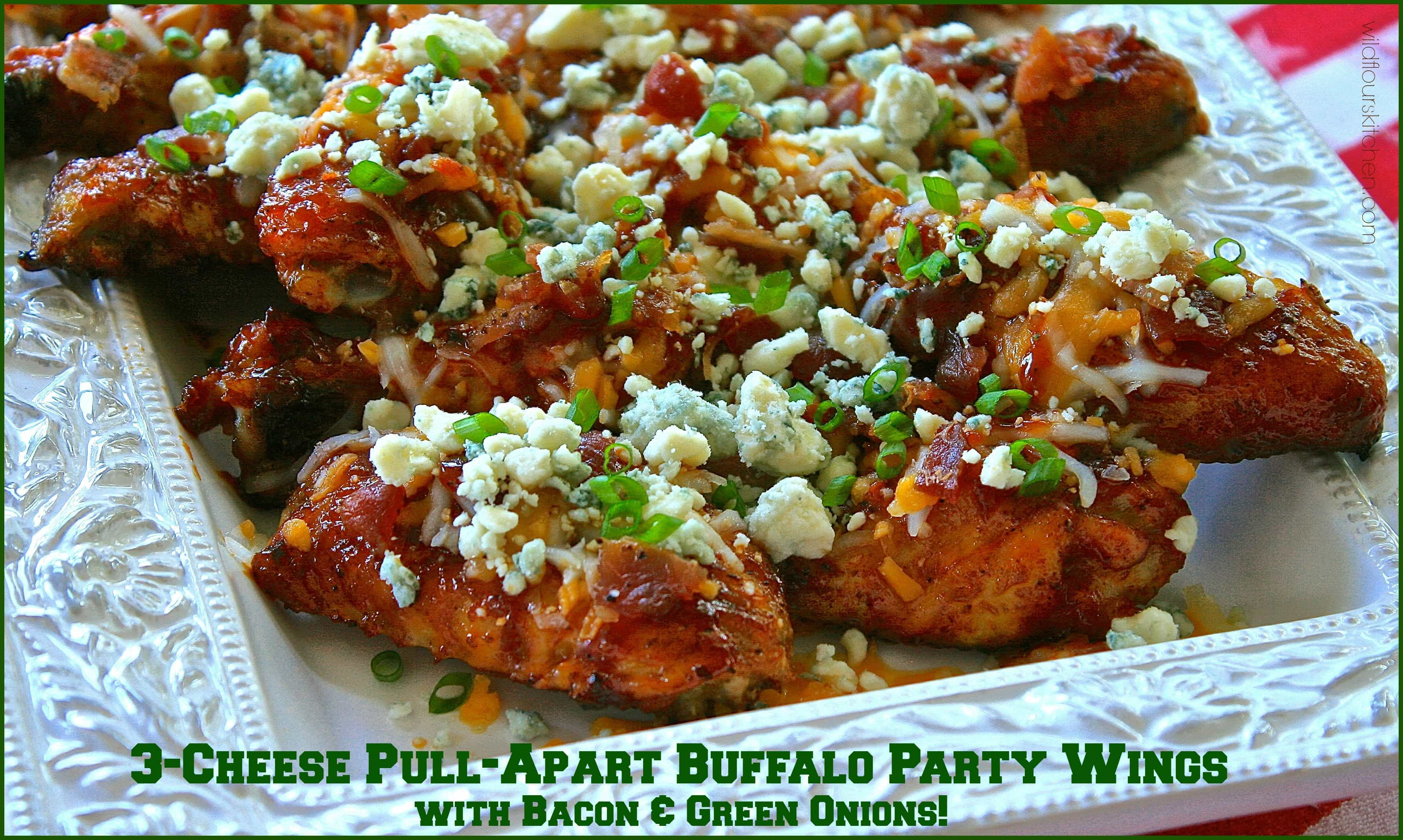 Cheese Pull-Apart Buffalo Party Wings with Bacon & Green Onions (No ...