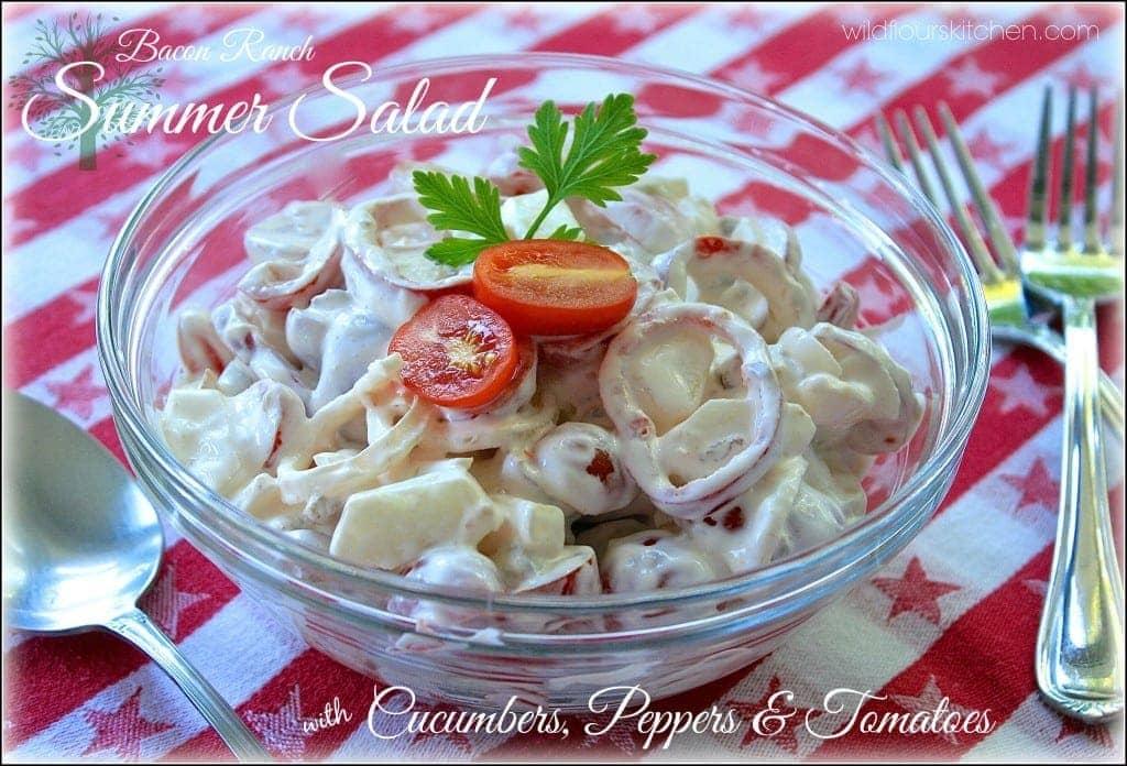 cucumber salad:sour cream