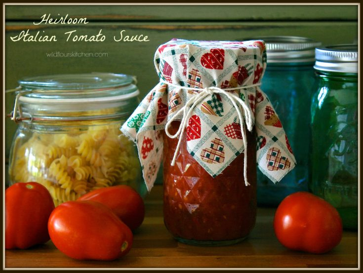 Heirloom Italian Tomato Sauce (For Pizza, Pasta, etc.)