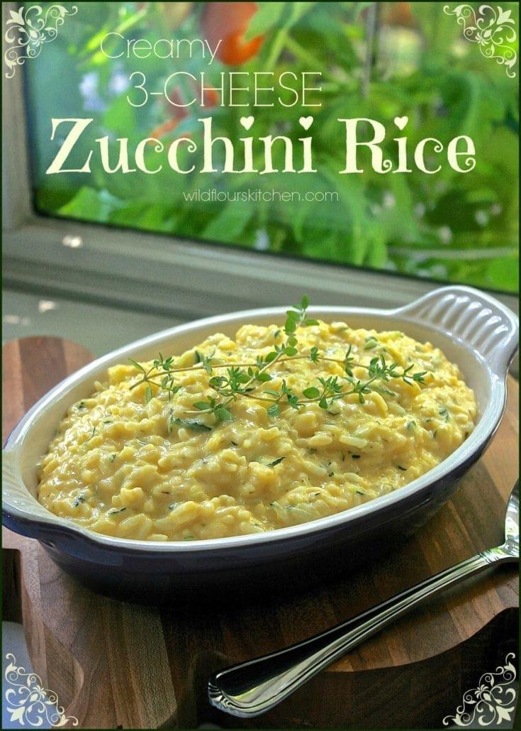 Creamy 3-Cheese Zucchini Rice