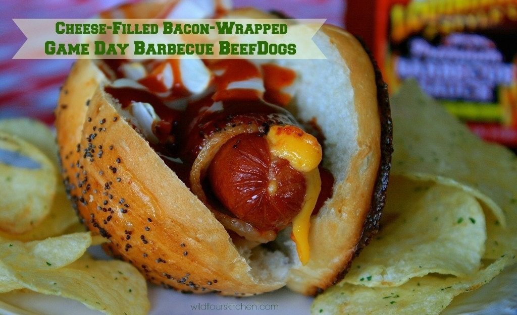 bbq bacon cheese hotdogs