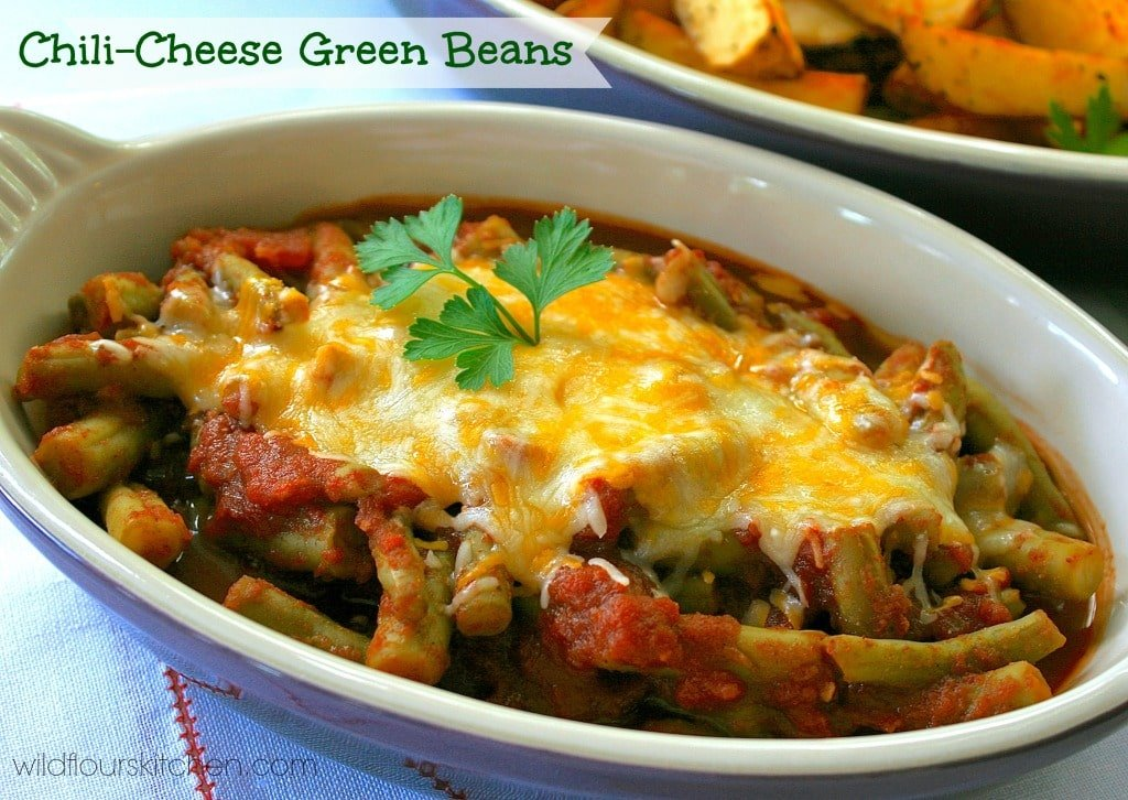 chili cheese green beans