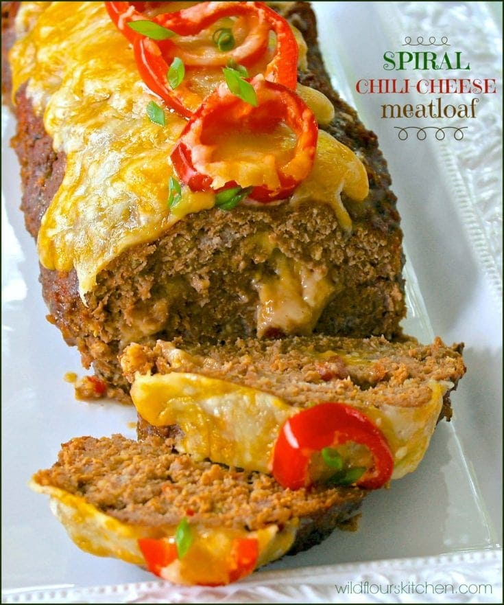 Spiral Chili-Cheese Meatloaf (*plus Chili-Cheese Green Beans)