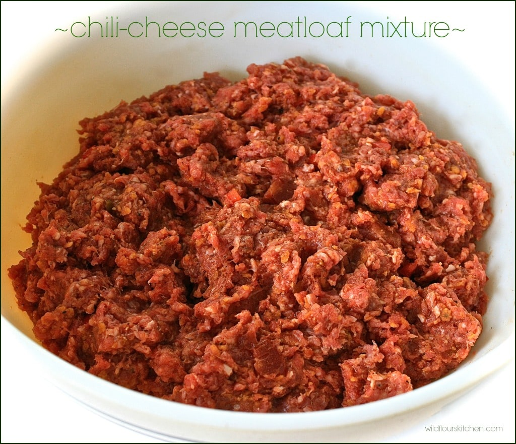 chili cheese meatloaf mixture