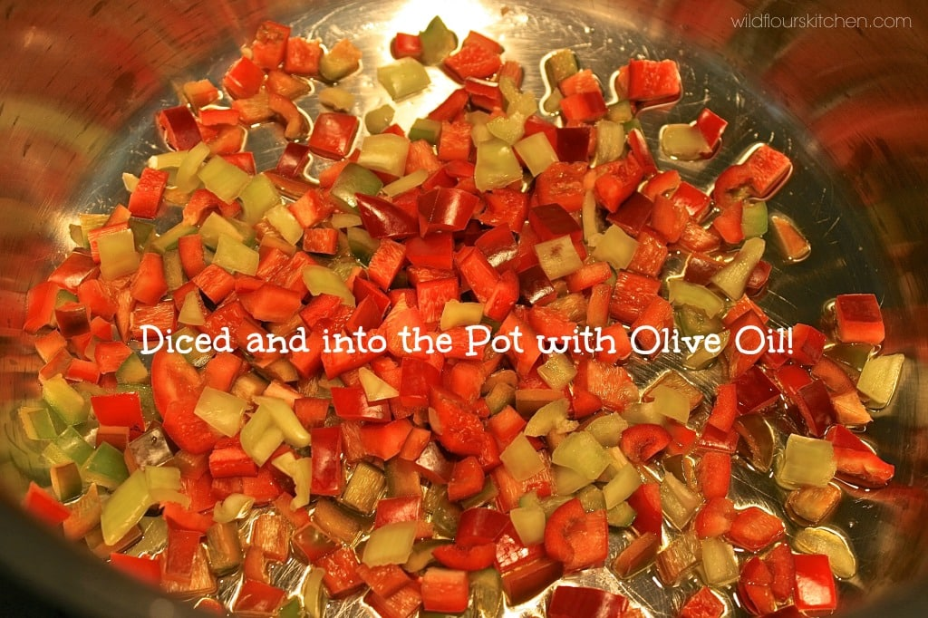 peppers diced