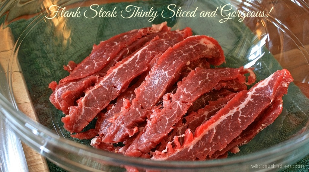 flank steak slices