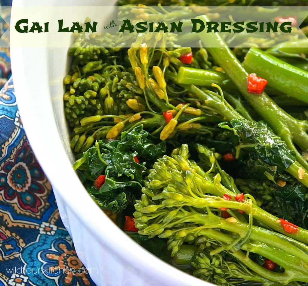 gai lan and shiitake stir fried brown rice recipes dishmaps gai lan ...