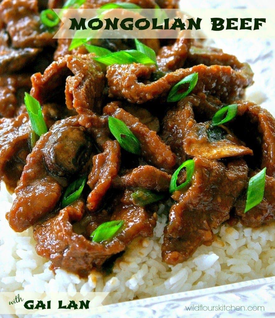 Mongolian Beef and Gai Lan | The Secret Recipe Club - Wildflour's ...