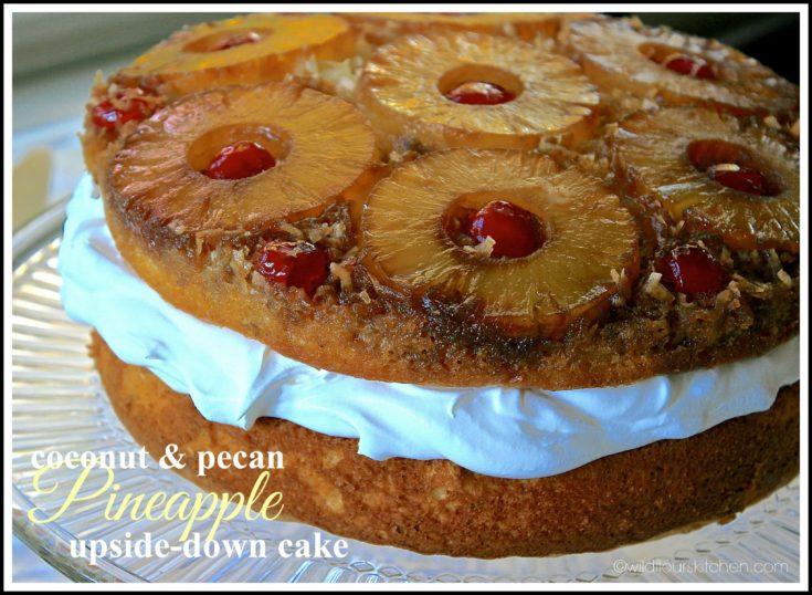 Double-Layer Coconut, Pecan & Pineapple Upside-Down Cake