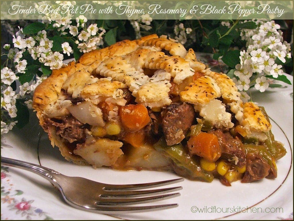 Tender Beef Pot Pie with Thyme, Rosemary & Black Pepper Pastry ...