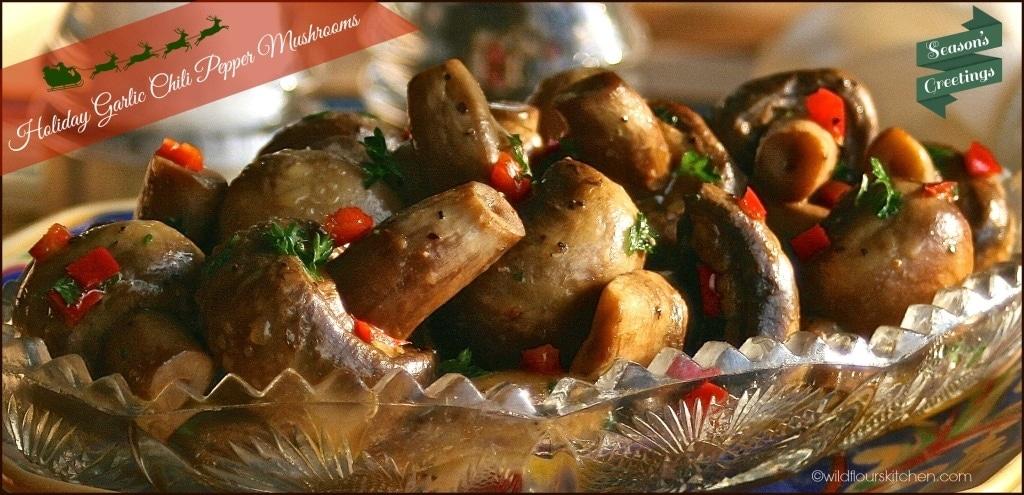 garlic chili mushrooms