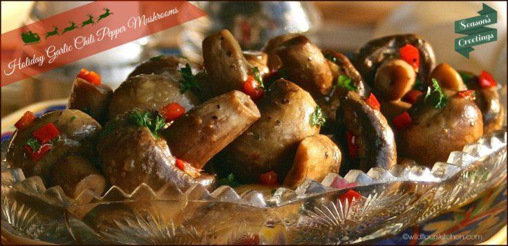 Spicy Garlic Chili Pepper Mushrooms