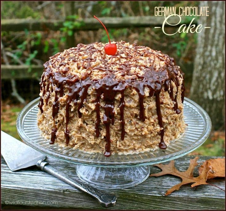 Kicked-Up German Chocolate Cake From a Mix with Homemade Coconut Pecan Frosting