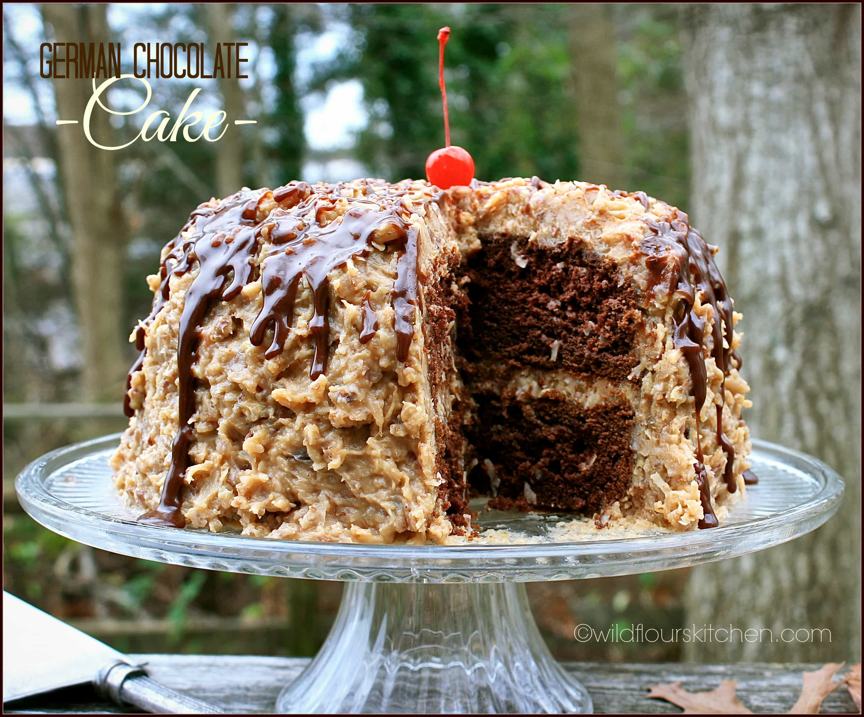 KickedUp German Chocolate Cake From a Mix with Homemade Coconut