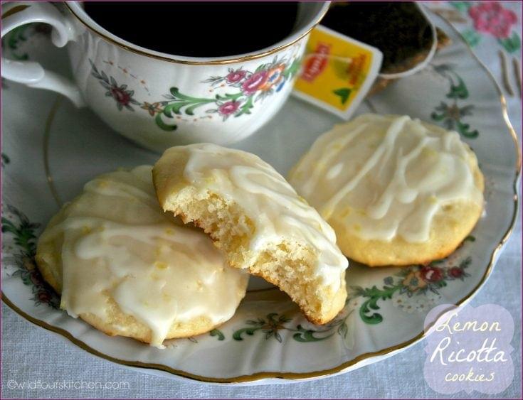 Old-Fashioned Glazed Lemon Ricotta Cookies
