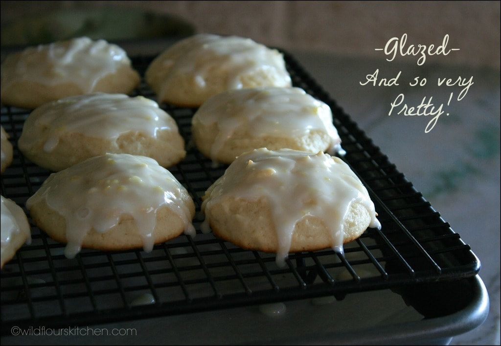 lemon ricotta cookies glazed
