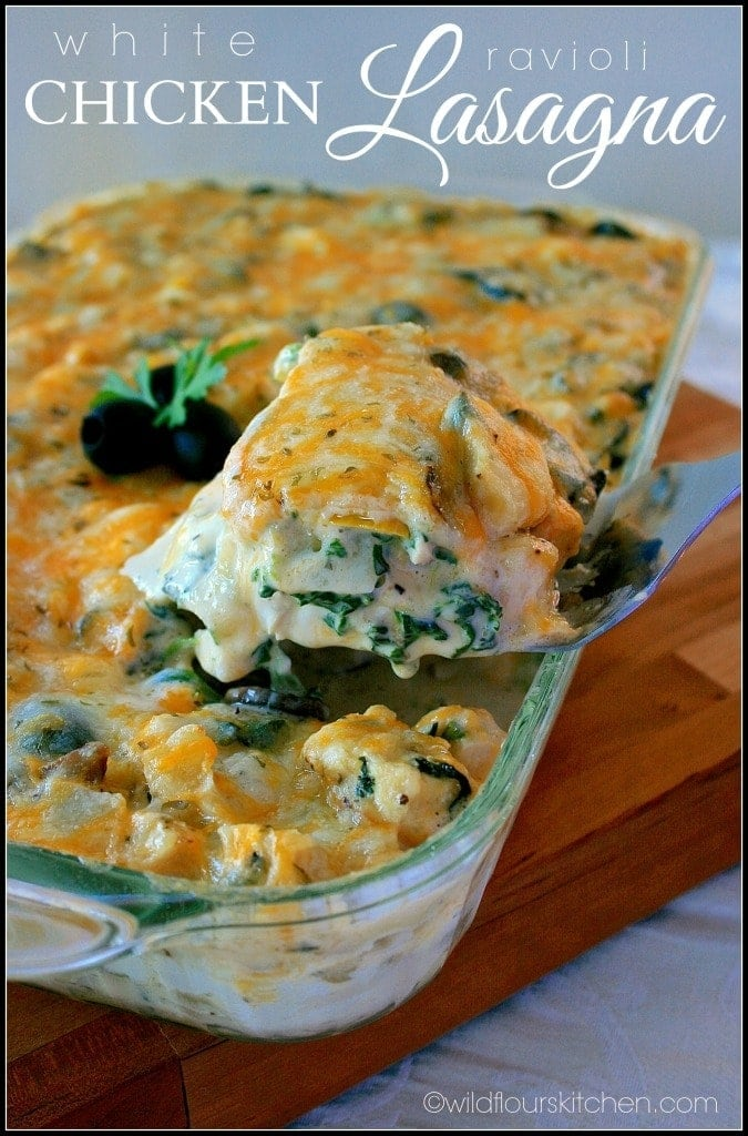 white chicken ravioli lasagna