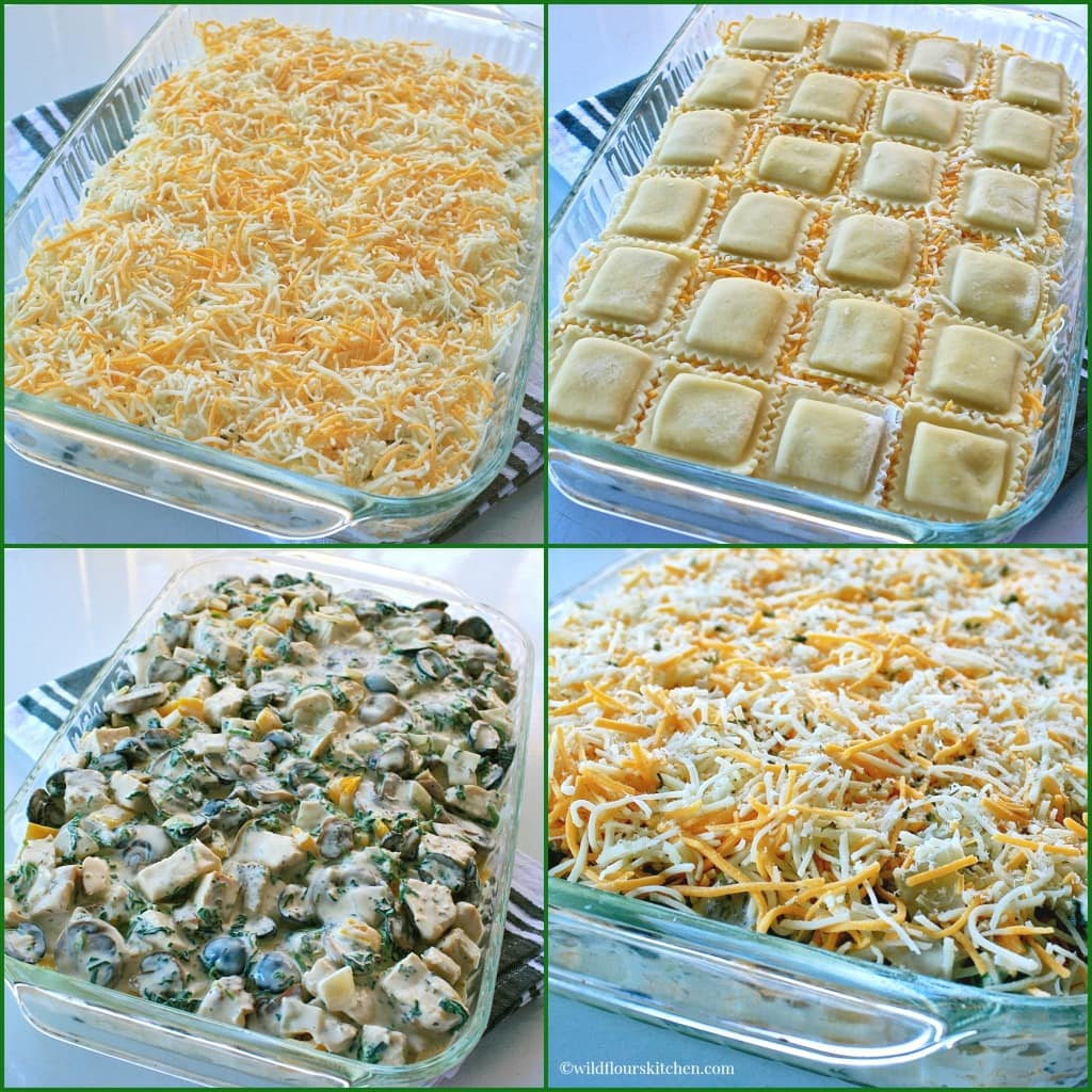 White Chicken Ravioli Lasagna