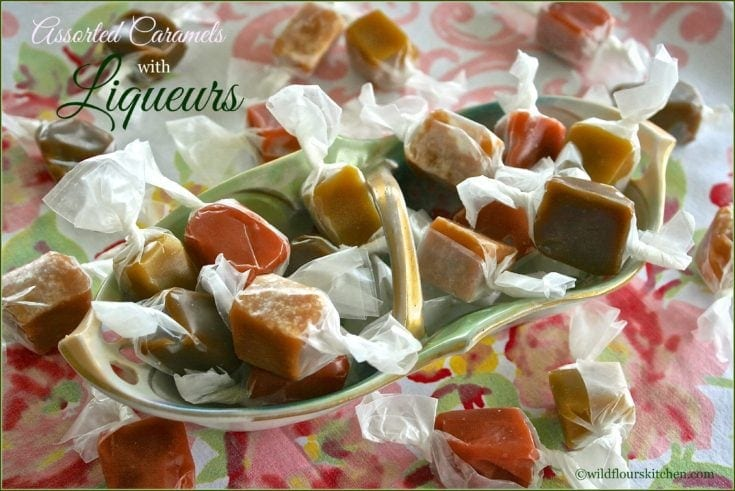 Easy Microwave Assorted Caramels with Liqueurs